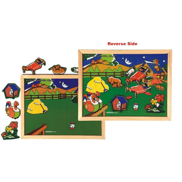 Magnetic Twin Play Tray – A Cool Summer Night - Puzzles & Games