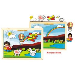 Magnetic Twin Play Tray – Rainbow Scene | Puzzles & Games
