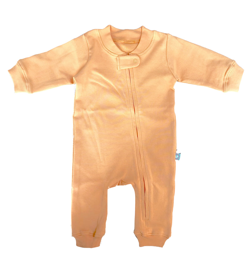Zip Romper - Peach themumsshop