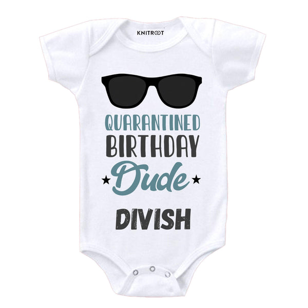 Quarantine Birthday Dude | Personalised Baby Onesie