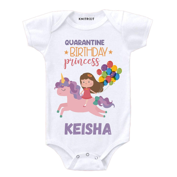 Quarantine Birthday Princess | Personalised Baby Onesie