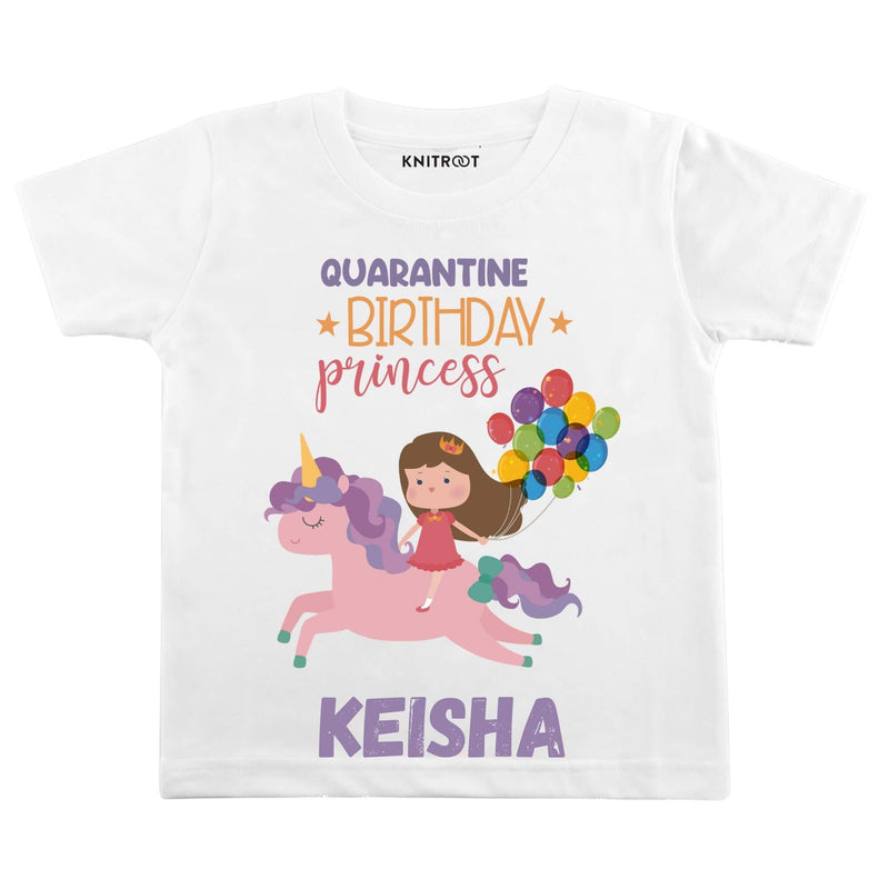 Quarantine Birthday Princess | Personalised Tshirt