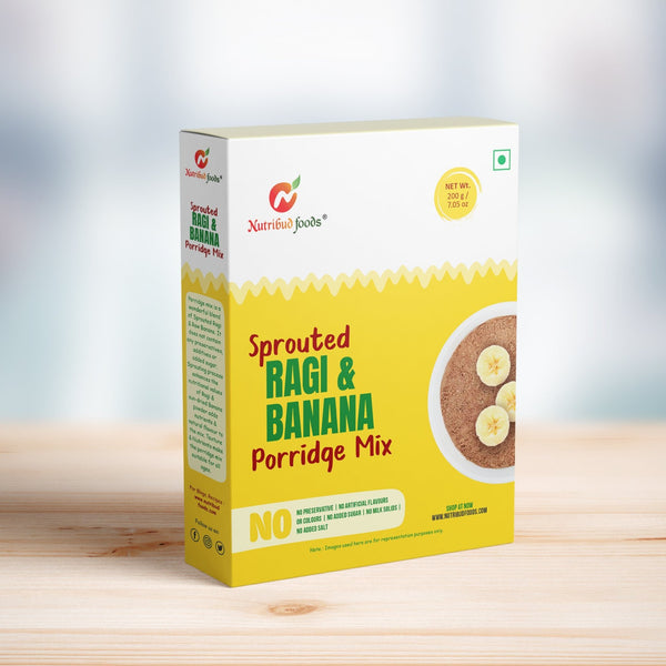Nutribud Foods Sprouted Ragi and Banana Porridge Mix | Baby Food