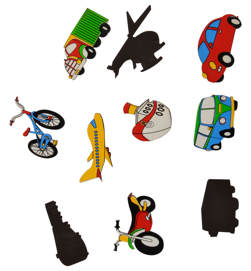 Magnetic Cutouts Transport (Set of 10)-Toys-THE MUM SHOP