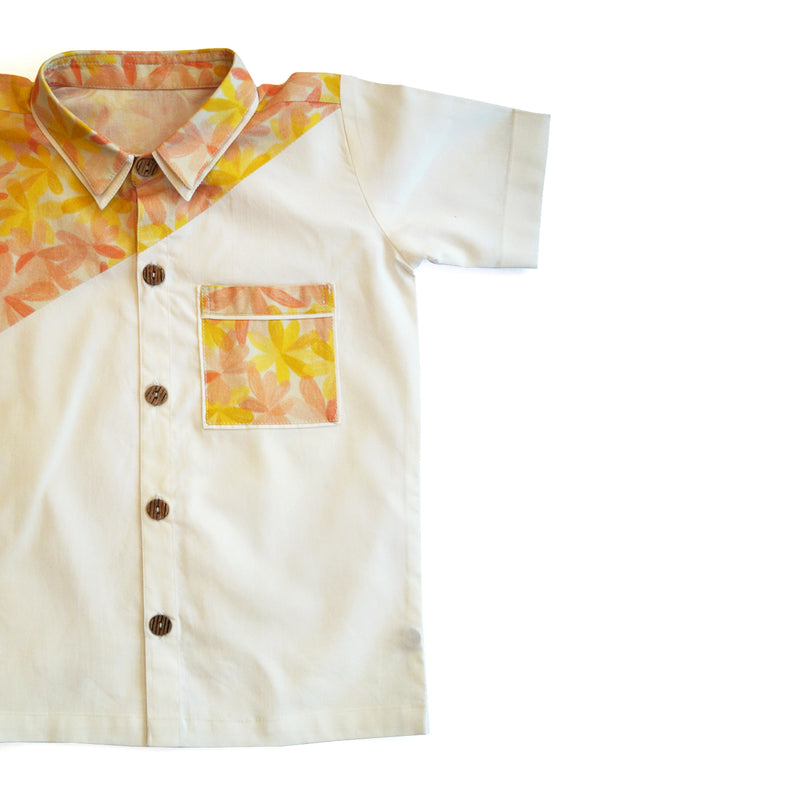 Apricot Blooms Shirt-Clothes-THE MUM SHOP