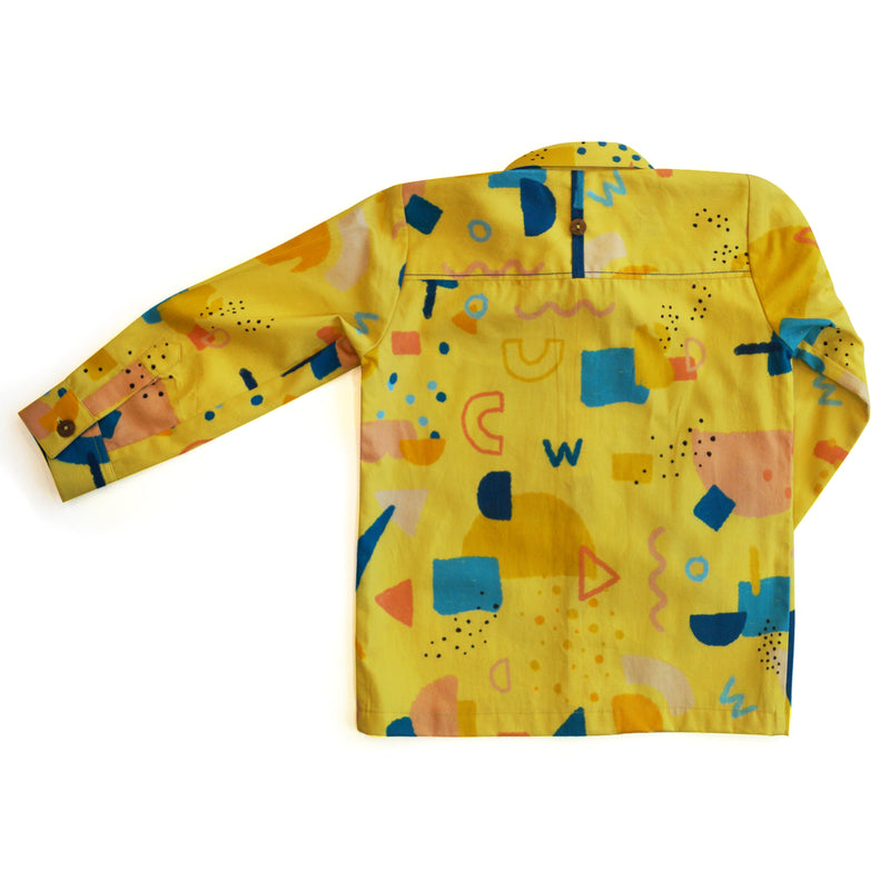 Squiggle Formal Shirt-Clothes-THE MUM SHOP