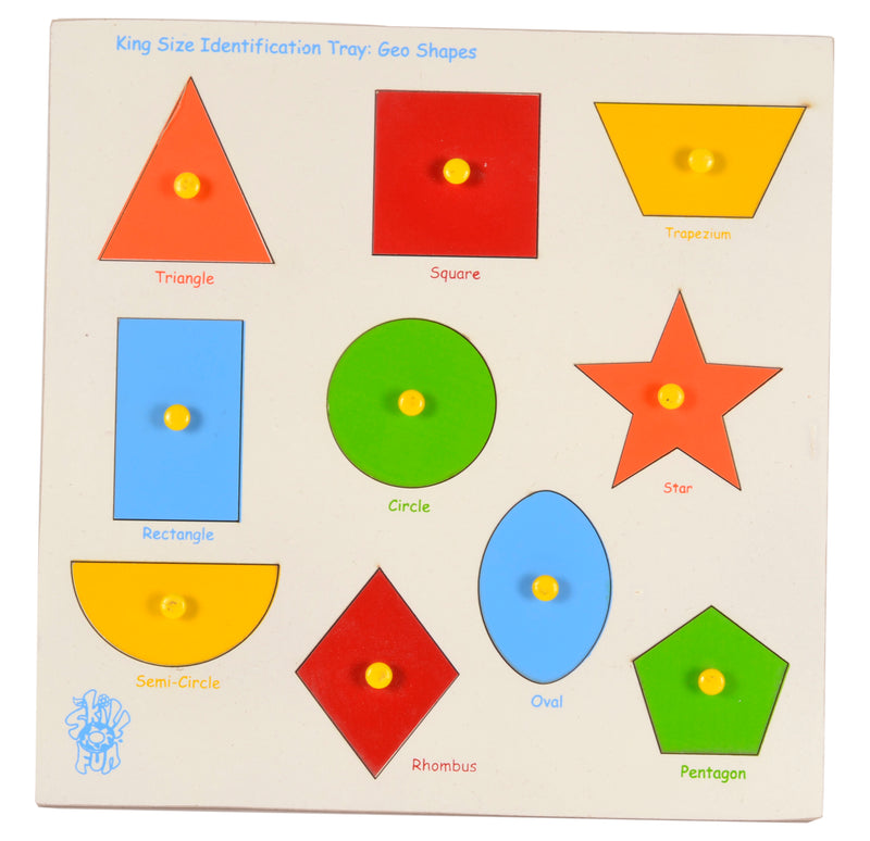King Size Identification Tray Geo Shapes-Toys-THE MUM SHOP