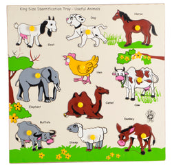 King Size Identification Tray Useful Animals-Toys-THE MUM SHOP
