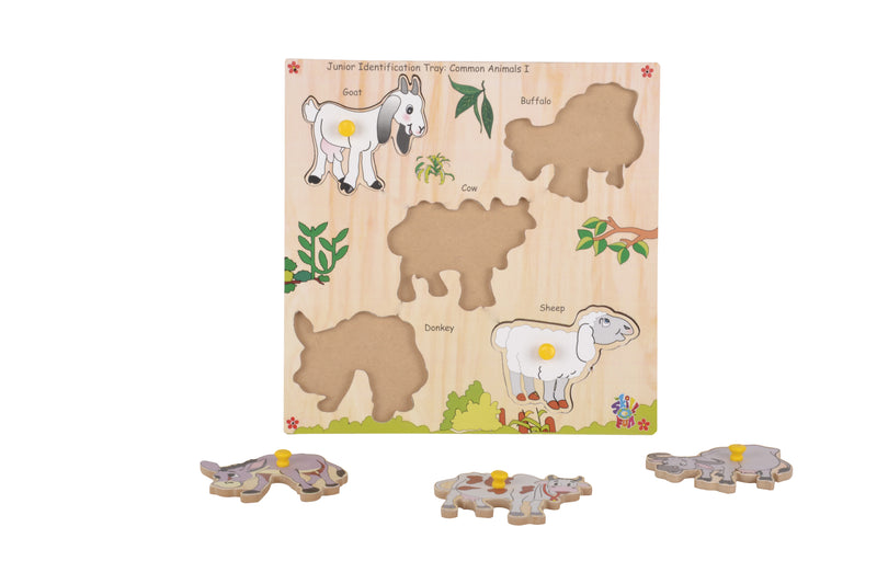 Junior Identification Tray Common Animals I-Toys-THE MUM SHOP