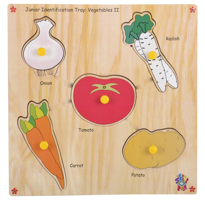 Junior Identification Tray Vegetables II-Toys-THE MUM SHOP