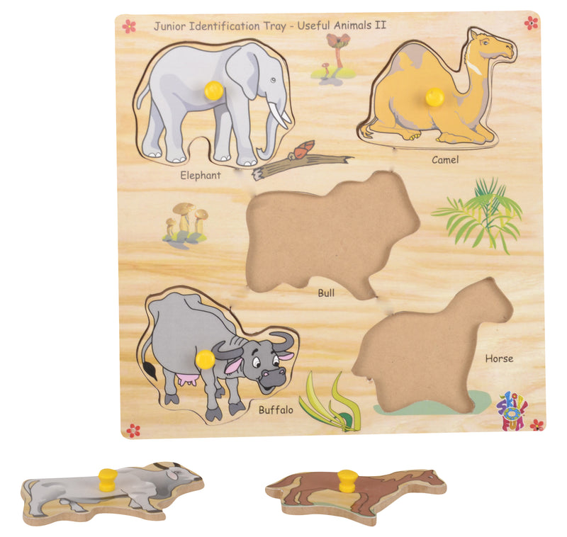 Junior Identification Tray Useful Animals II-Toys-THE MUM SHOP