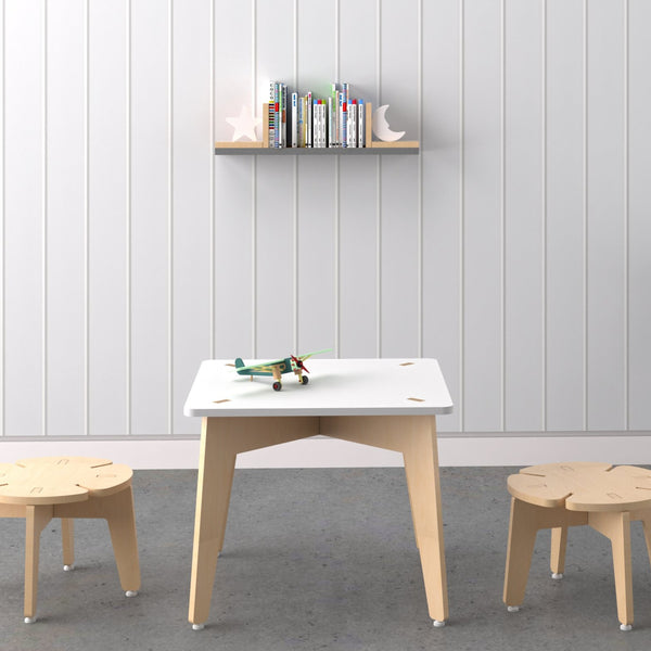 Kids Furniture Study Table Set with Stool