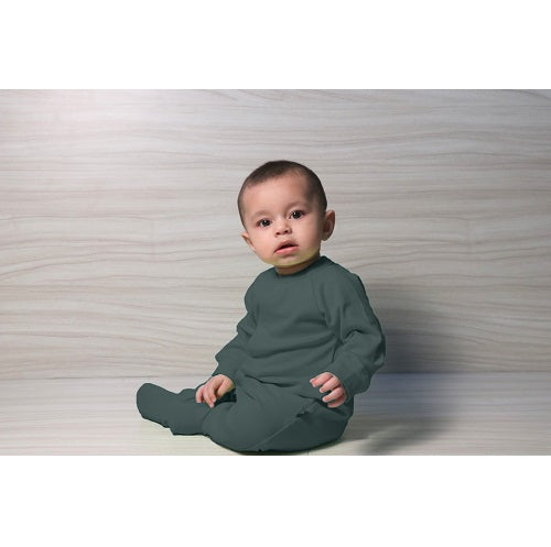 Snap Footie - Dark Grey | Baby Clothes
