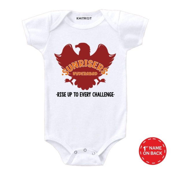 Sunriser Hyderabad baby outfit for newborn babies | Personalised Baby Onesie