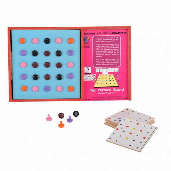 Peg Pattern Board Travel Toy | Puzzles & Games