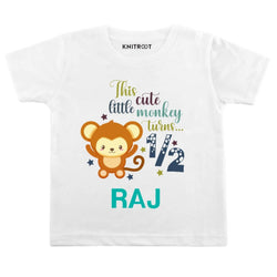 This Cute Little Monkey Turn… Half Baby Clothes | Personalised Tshirt