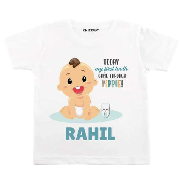 Today My First Tooth Came Through TIPPIE! Baby Wear | Personalised Tshirt