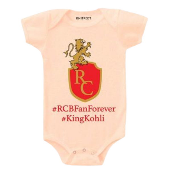 RCB Onesie for Kids | Personalised Baby Onesie