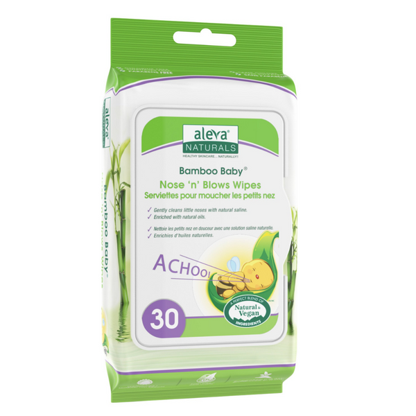 Aleva Naturals Bamboo Nose N Blows Wipes 30pk