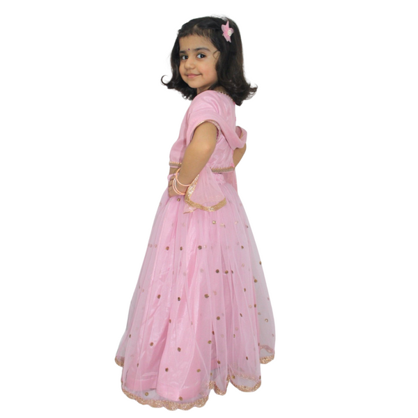 Girls Pink Lehenga Set for Kids