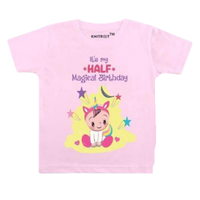 My Half Magical Birthday Baby Clothes | Personalised Tshirt