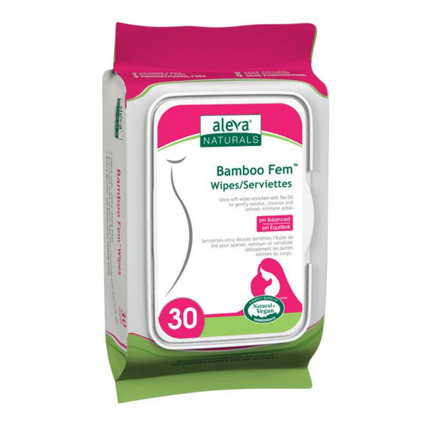 Bamboo Fem Wipes 30/Pk
