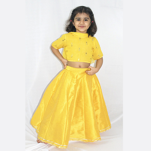 Yellow Lehenga Set ,Girls Indian Wear