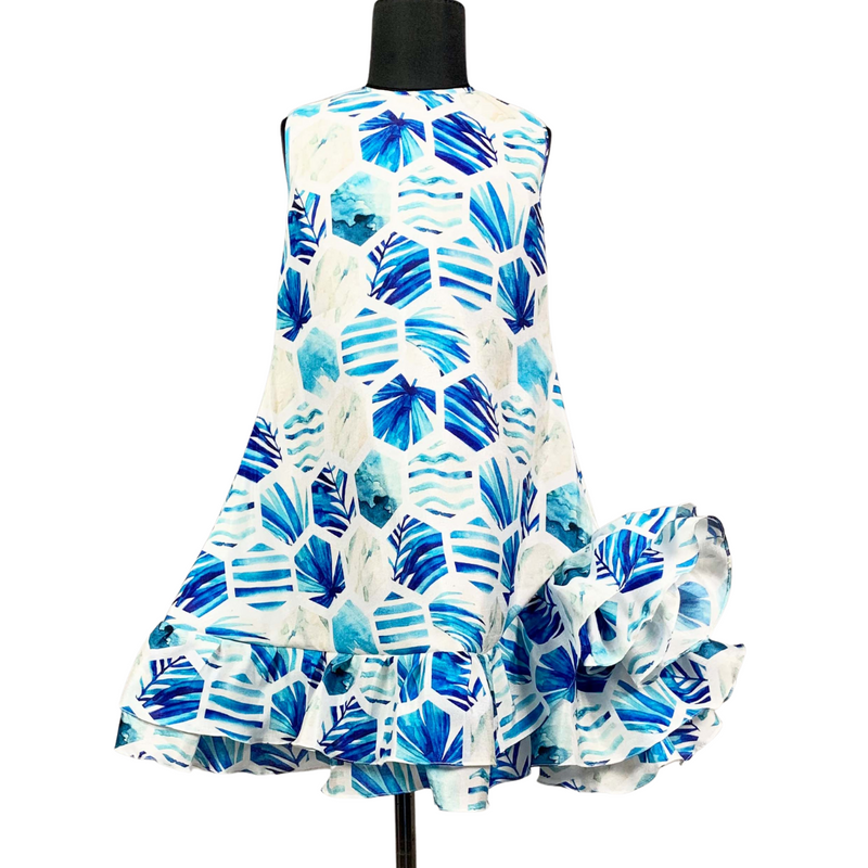 Hexa A line Ruffle Dress Girls Party Wear