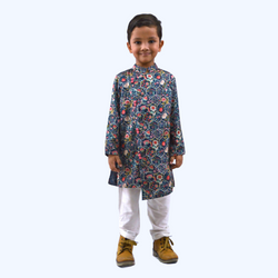 Hexa Print Kurta Pyjama Boys Indian Wear