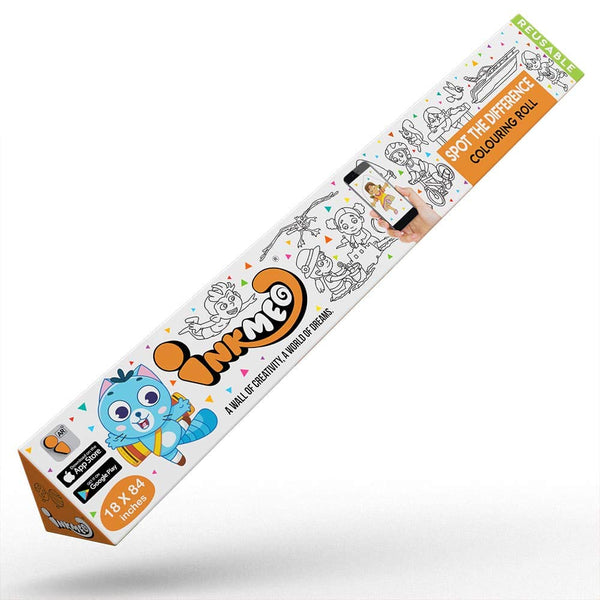 Spot the Difference Reusable Colouring Roll - Educational & Learning - 3 years - 6 years
