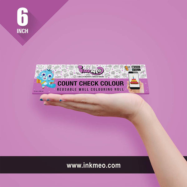 Count Check Colour Colouring Roll - Educational & Learning - 2 years - 10 years