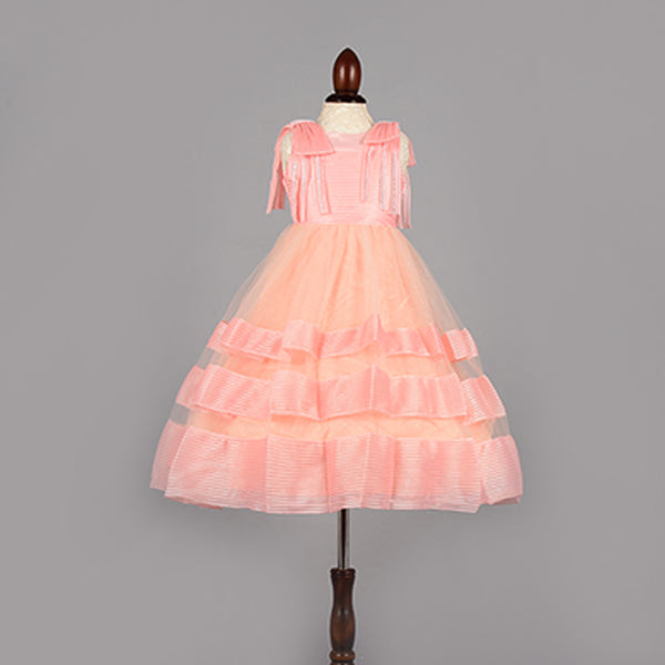 Blushing Pink Dress -Girls Party Wear