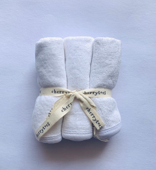 Baby Washclothes set - White | Baby Wash Cloth