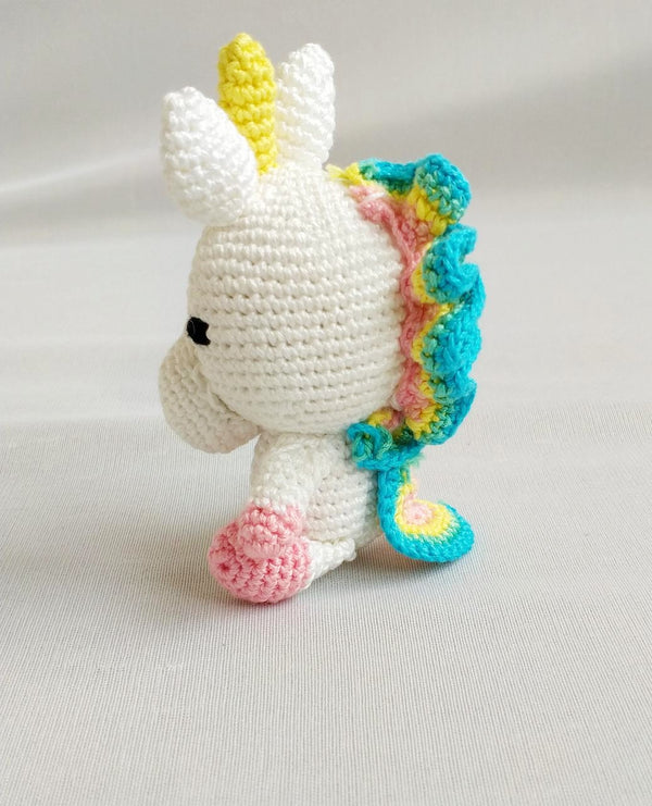Amigurumi Soft Toy- Unicorn Rainbow hair | Crochet Toys