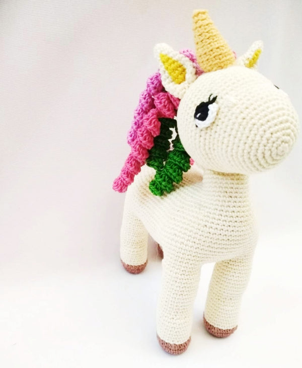 Amigurumi Soft Toy- Unicorn Multicolor hair | Crochet Toys