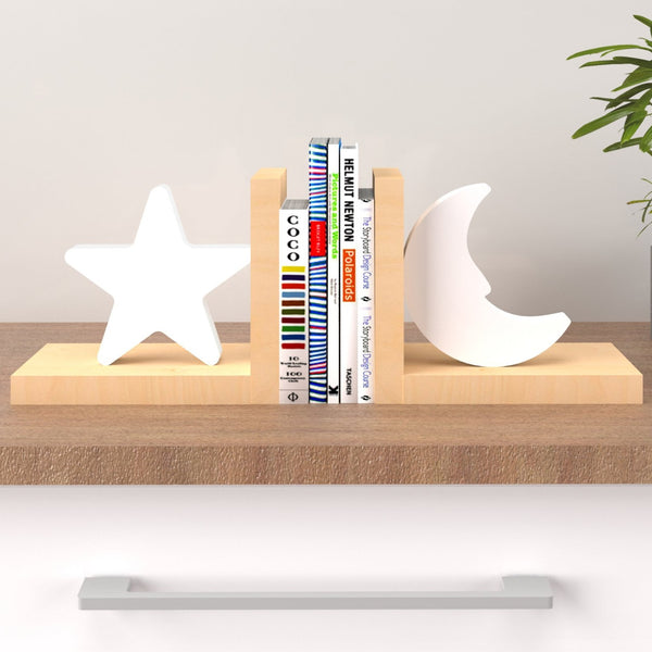 Kids Furniture Bookend - White