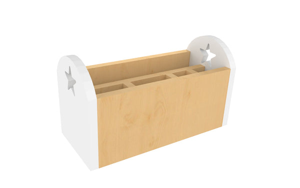 Wooden Table organizer - White