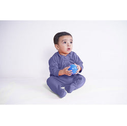 Zip Footie - Navy | Baby Clothes