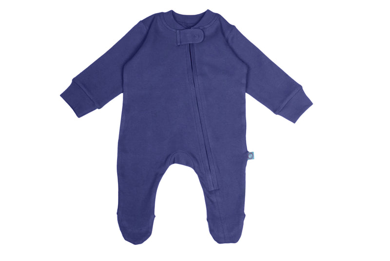 Zip Footie - Navy themumsshop