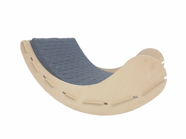 CuddlyCoo Children's Rocker/Rocking Chair, Easy Chair - Grey | Cradle & Swing