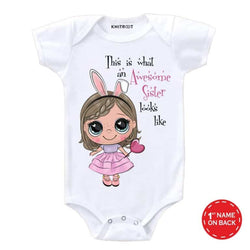 Awesome sister 2 | Personalised Baby Onesie