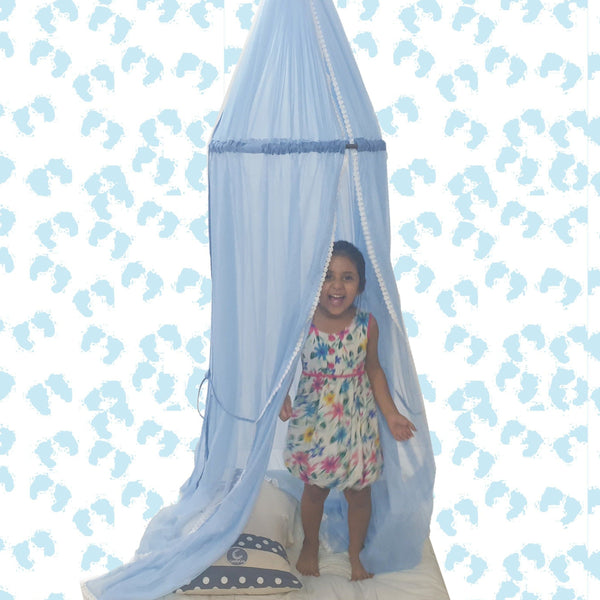 CuddlyCoo Kids Canopy Tent - Blue
