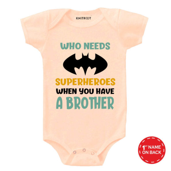 Superhero Brother 2 | Personalised Baby Onesie
