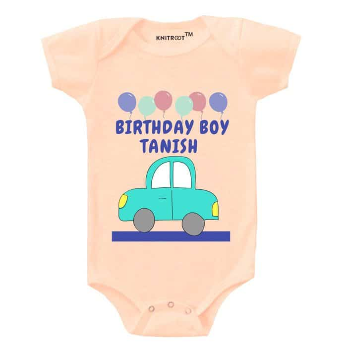 Half Birthday-1 - Personalised Baby Onesie