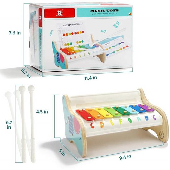 Eight Tones Elephant Xylophone - Age -2 Years +