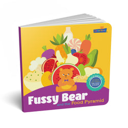 Fussy Bear and the Food Pyramid - Children's Early Learning Book - Age: 6+ Months