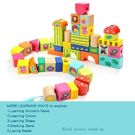 Forest Animal Building Blocks - Age -2+ Years