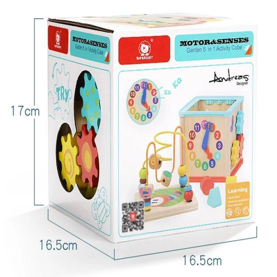 Garden 5 in 1 Activity Cube - Age -1+ Years