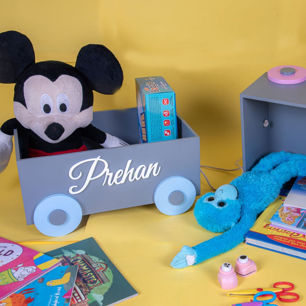 Hand pull cart - Wooden Toy Organisers