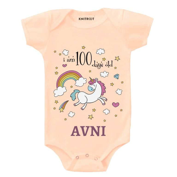 I Am 100 Days Old Baby Wear-5 - Personalised Baby Onesie